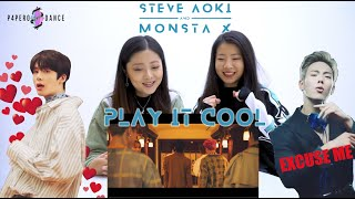 [MV REACTION] PLAY IT COOL - MONSTA X & STEVE AOKI P4pero Dance
