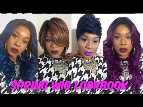 Spring Wig Lookbook (5 Wigs)| Hairsisters com - YouTube