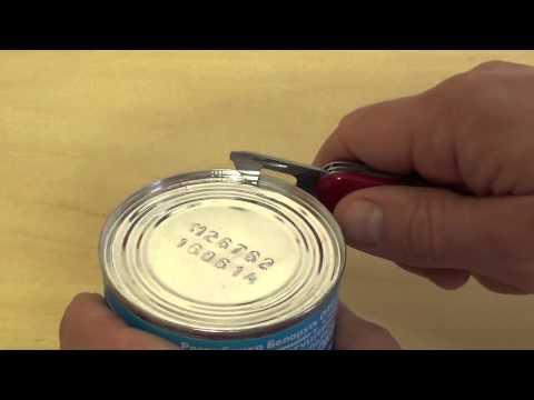 как открыть консервы ножом Victorinox