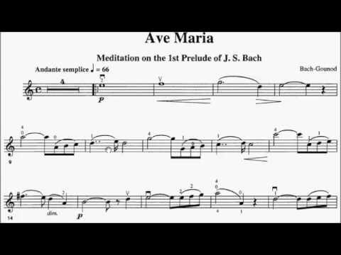 Trinity TCL Violin 2016-2019 Grade 5 B6 Bach arr Gounod Ave Maria Sheet Music