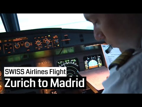 SWISS Airbus A320 Zurich - Madrid and back (Cockpit, Jumpseat)