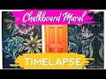 Time-lapse chalkboard mural