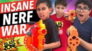 Nerf War! Insane Nerf Gun Battle & Blaster Showdown!   Nerf Gun War!