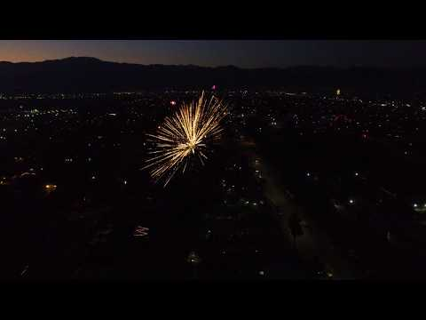 4k Fourth of July 2020 fireworks, drone footage from Azusa, Covina, Baldwin Park, Irwindale CA