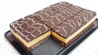 كيك بارد في 10 دقائق بدون فرن بدون بيض بدون كريمة والطعم خيالي😋😋 Cool cake without oven
