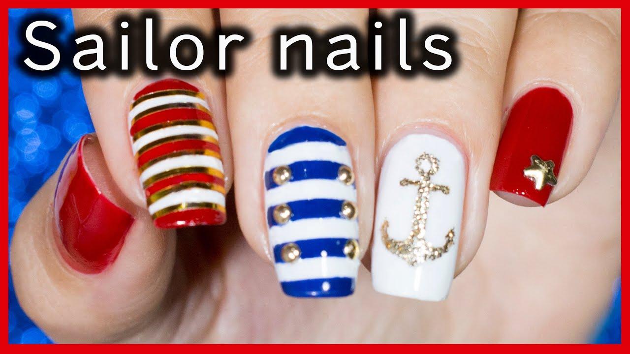 Sailor nail art nanasanzmes3 youtube sailor nail art nanasanzmes3 prinsesfo Image collections