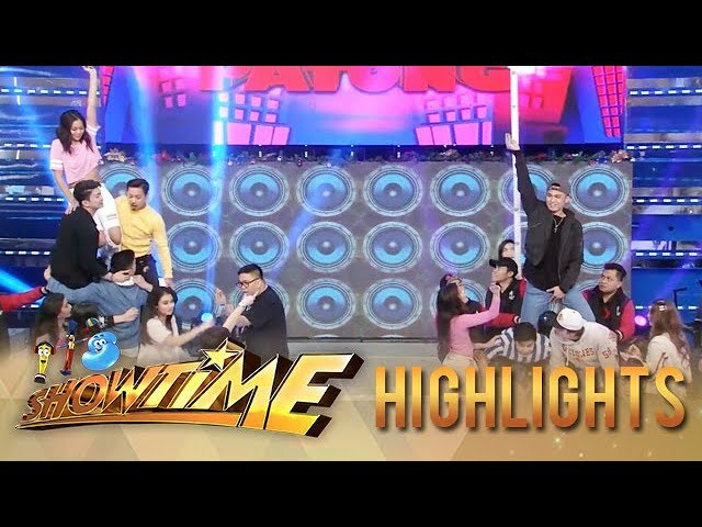 It's Showtime: Anne's Team Aurora and Jhong's Team Alakdan have an intense game