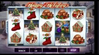 Обучиться играть на автомате Happy Holidays. Видео обучение