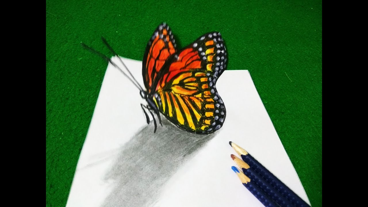 how to make 3d butterfly with paper step by step