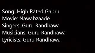 high rated gabru lyrics nawabzaade
