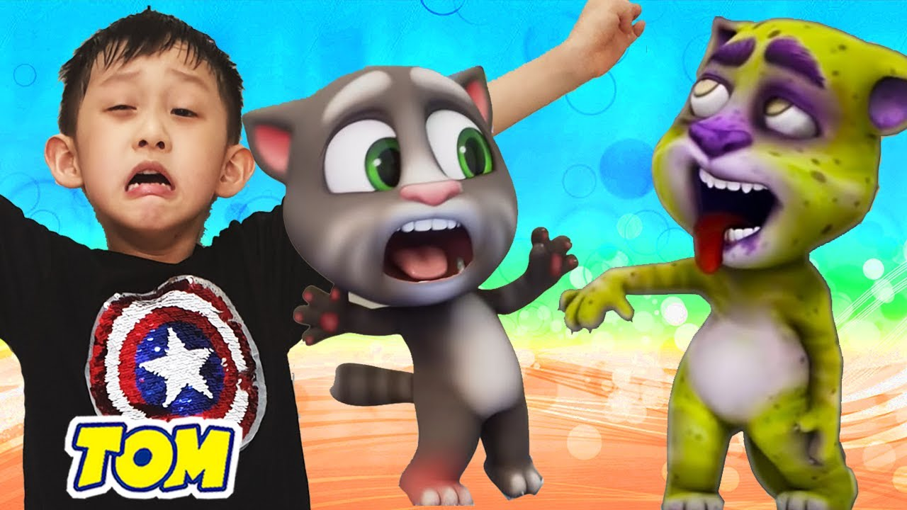 🏆💥 Hide and Seek Challenge with Zombie My Talking Tom in Real Life and more Nate Halloween stories 🎃