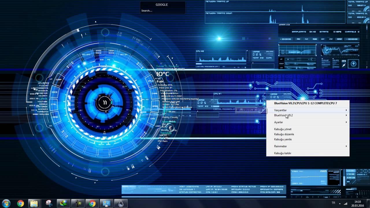 Hareketli Temalar Windows 7 1