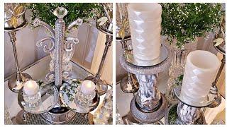 Dollar Tree DIY Mirror Candle Holders | Mirror Decor Ideas