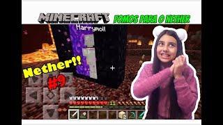 MINECRAFT - FOMOS PARA O NETHER !!!!  - A FAZENDA #9 - Julia Games