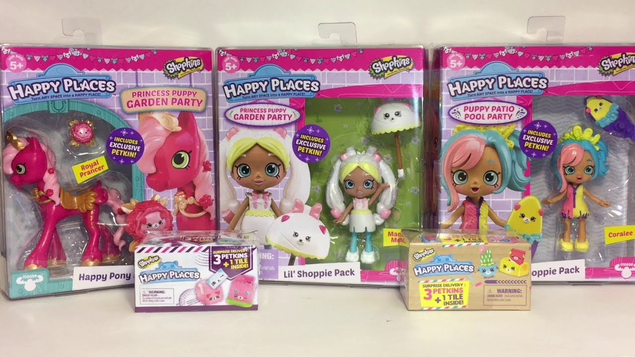 Happy Places Lil' Shoppies Marsha Mallow Coralee Happy Pony Blind Boxes Toy Unboxing & Revi