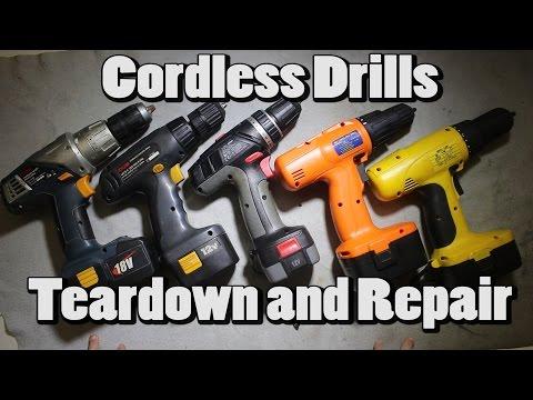 #4 Cordless Drills Teardown and Repair