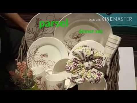 Cara bikin parsel dinner set