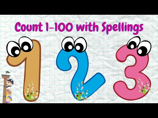 Counting numbers 1-100 with spellings || Counting numbers || Learn Counting for Kids || Counting