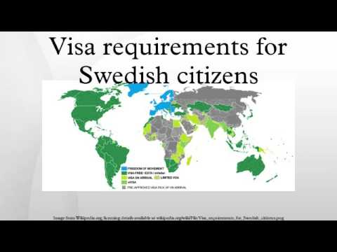Visa requirements for Swedish citizens