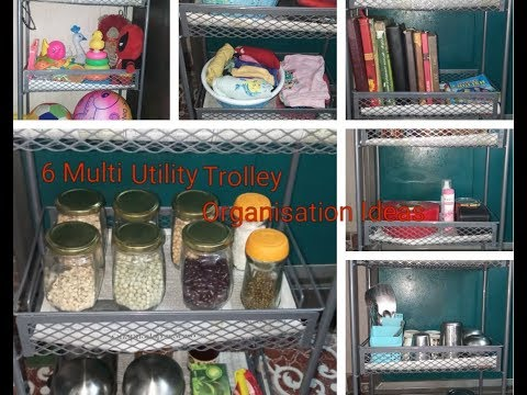 Multi Utility Trolley Organisation Ideas/Space Saving Organisation Ideas For Home And Kitchen Tamil