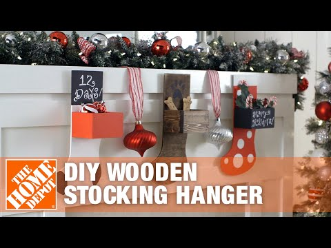 DIY Wooden Stocking Hanger | The Home Depot