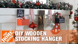 DIY Wooden Stocking Hanger