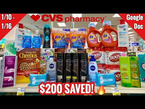 CVS Free, Cheap, & Money Maker Coupon Deals & Haul | 1/10 – 1/16 | $200 IN SAVINGS! 🔥🙌🏽