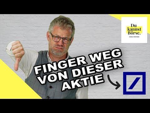 Finger Weg Von Deutsche Bank Aktie   Du Kannst Börse   Mit Heiko Böhmer