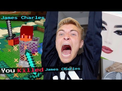 I Fought James Charles In Minecraft thumbnail