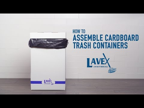 Lavex White Cardboard Trash And Recycling Container Assembly