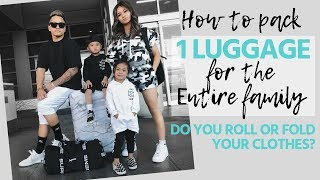 HOW TO PACK 1 LUGGAGE FOR THE FAMILY⎮PACK 100+ PIECES FOR THE WHOLE FAMILY⎮HAUS OF SHERRY