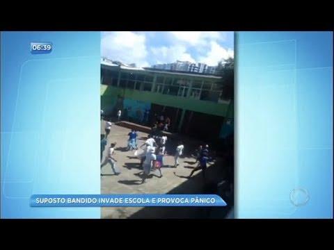 Ex-aluno transtornado invade escola e gera pânico na Bahia