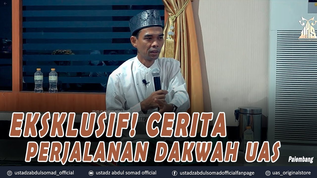 Download EKSLUSIF ! CERITA PERJALANAN DAKWAH UAS ᴴᴰ | Palembang | Ustadz Abdul Somad, Lc., MA