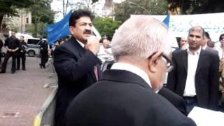 Demo of afghans in Frankfurt Pakistan Consulat