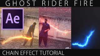 After Effects Tutorial: Ghost Rider Fire Chain || Videocopilot Saber Plug-in