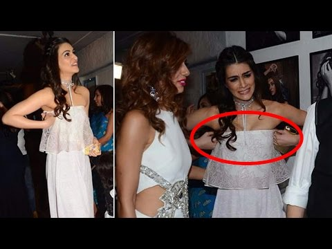 Kriti Sanon Caught Adjusting  Dress
