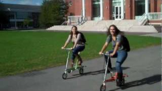 Coeds Campus Commuting on Little Folding Bikes Thumbnail