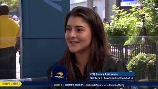 Bianca Andreescu | US Open Now Interview