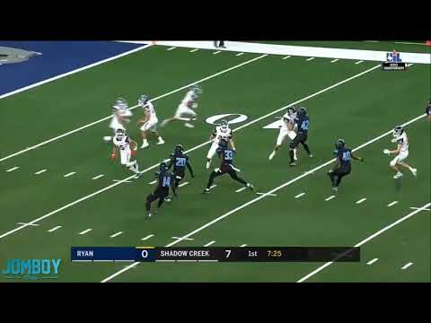 Denton Ryan High School pulls off trick play on the kick return for the touchdown, a breakdown