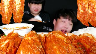 겁나매운김치랑 흰쌀밥 먹방ASMR//(ft.돼지고기김치…