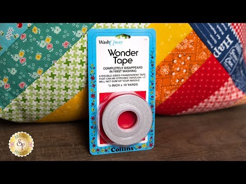 Wash-A-Way Wonder Tape | A Shabby Fabrics Notion Video