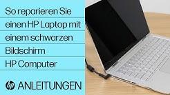 So reparieren Sie einen HP Laptop mit einem schwarzen Bildschirm | HP Computer | HP