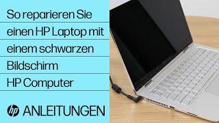 So Reparieren Sie Einen Hp Laptop Mit Einem Schwarzen Bildschirm Hp Computer Hp Youtube