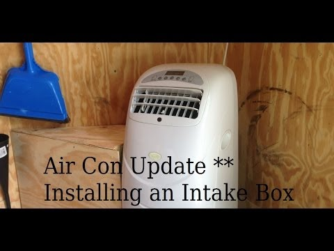 Air Con Intake Box Install 6x10 Enclosed Trailer