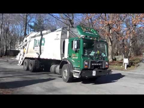 J.R.M Hauling & Recycling 1408 ~ Mack MRU McNeilus Rear Loader on Trash