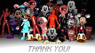 FNATI Nightmare Before Disney: All Animatronics & Jumpscares