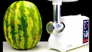 EXPERIMENT: MEAT GRINDER VS WATERMELON!