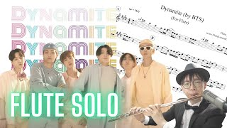 "BTS - Dynamite Flute Cover (with ad-lib solo) ♫sheet music/無料の""Dynamite"" PDF/score/notes"