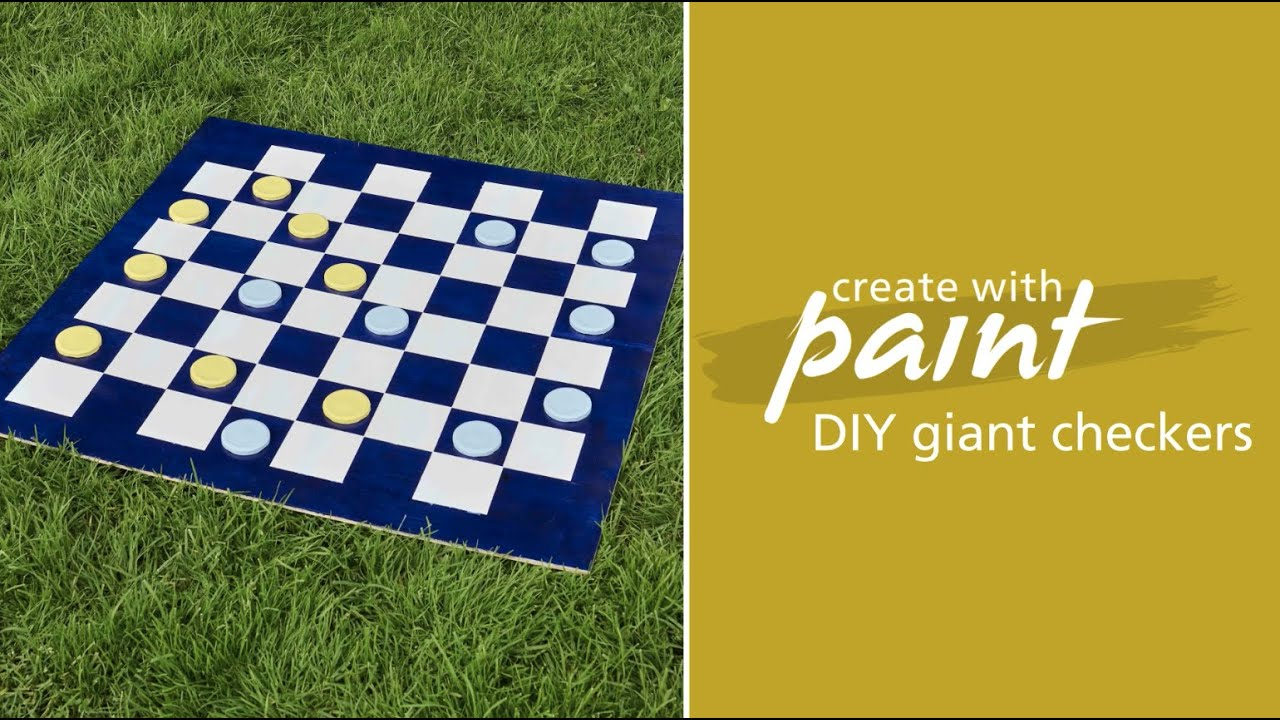Habitat TV Video: DIY lawn games: Make your own giant checkers