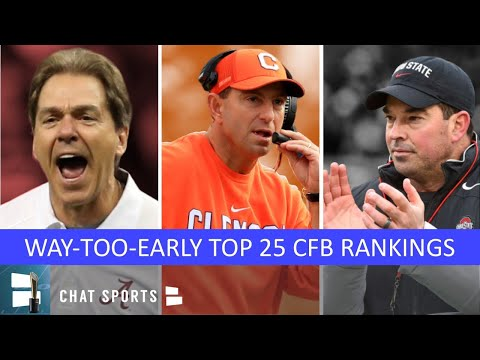 2020 College Football Top 25: Way-Too-Early Rankings Ft. Clemson, LSU, Ohio State & Alabama